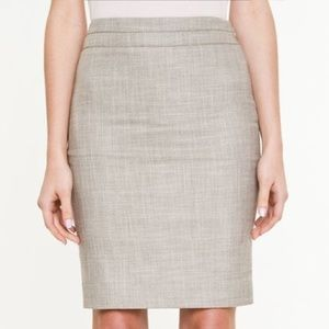 BNWT Le Chateau Beige Pencil Skirt - size 0
